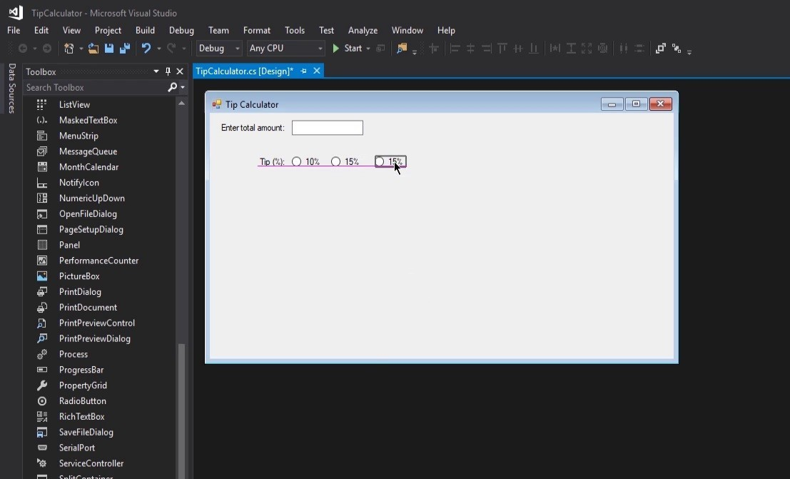 Intro to Windows Forms